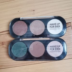 Makeup Forever Trio Palettes x2
